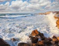 The breakwater embankment Stock Photo