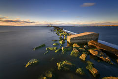 Breakwater, the entrance to the marina, Gdansk Gorki Zachodnie, Poland Stock Photography