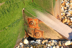 Breakwater groyne support post Stock Photography