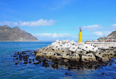Breakwater at Hout Bay. Cape Town Royalty Free Stock Photography