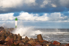 Free Breakwater In Storm. Royalty Free Stock Image - 48021146