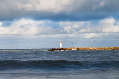 Free Breakwater In Storm. Stock Photo - 48054140