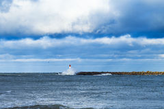 Free Breakwater In Storm. Royalty Free Stock Images - 48244999