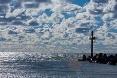 Breakwater of Klaipeda port Royalty Free Stock Photo