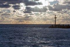 Breakwater of Klaipeda port Stock Image