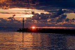 Breakwater of Klaipeda port Royalty Free Stock Images
