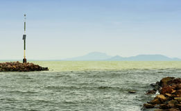 Breakwater at Lake Balaton Stock Photography