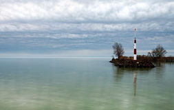 Breakwater at Lake Balaton Royalty Free Stock Photos