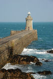 Breakwater lighthouse Guernsey Royalty Free Stock Images