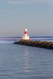 Breakwater Lighthouse at dusk Royalty Free Stock Photography
