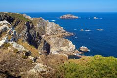 Cabo de Peñas in Asturias. Cabo de Peñas is the northernmost cape of the Principality of Asturias, Spain, and is located in the council of Gozón. It is royalty free stock image