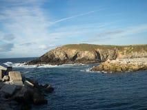 Breakwater. Located in Puerto de Vega. Asturias. Spain Royalty Free Stock Photos