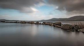 The breakwater on Lough Derg. Stock Photos