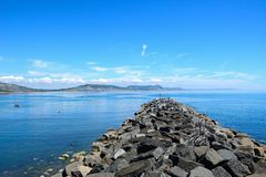 Breakwater, Lyme Regis. Stock Photos