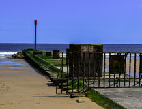Breakwater at Mablethorpe Royalty Free Stock Image