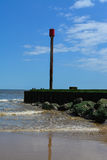 Breakwater at Mablethorpe closeup Royalty Free Stock Image