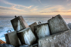 Breakwater, ocean wall Royalty Free Stock Photo