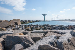 Breakwater Of Large Blocks In The Dutch North Sea Royalty Free Stock Images