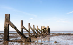 Breakwater old ruins Royalty Free Stock Images