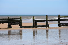 Breakwater, Overstrand, Cromer, Norfolk, England Royalty Free Stock Photos