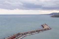 Breakwater in Peñiscola, Castellon, Spain Stock Photography