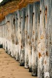 Breakwater, Poles, Beach, Wood Royalty Free Stock Photo