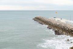 Breakwater port protector Stock Photo
