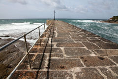 Breakwater at Porthleven Cornwall Stock Photography