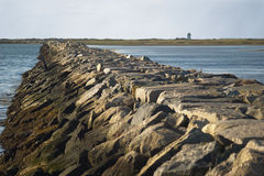 Breakwater in Provincetown Royalty Free Stock Photography