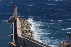 Breakwater - Rough Sea Royalty Free Stock Images