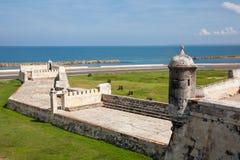 The Breakwater of Santa Catalina, The Pincer. Barrier constructed as part of Cartagena's walls known as El Espigon, El espigon de la Tenaza o Tenaza de Santa Stock Images