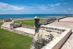 The Breakwater of Santa Catalina, The Pincer. Barrier constructed as part of Cartagena's walls known as El Espigon, El espigon de la Tenaza o Tenaza de Santa Royalty Free Stock Photos