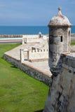 The Breakwater of Santa Catalina, The Pincer. Barrier constructed as part of Cartagena's walls known as El Espigon, El espigon de la Tenaza o Tenaza de Santa Stock Photo
