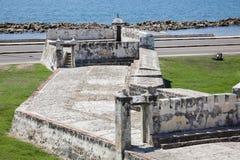The Breakwater of Santa Catalina, The Pincer. Barrier constructed as part of Cartagena's walls known as El Espigon, El espigon de la Tenaza o Tenaza de Santa Royalty Free Stock Images