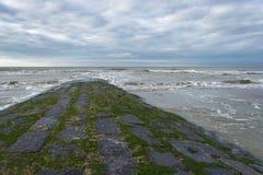 Breakwater in sea Stock Images