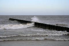Breakwater sea Stock Image