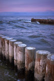 Breakwater in the sea Royalty Free Stock Images