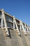 Breakwater seawall Stock Images