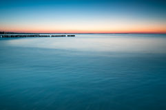 Breakwater Sunset Royalty Free Stock Photos