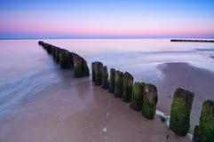 Breakwater Sunset Stock Photography