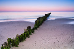 Breakwater Sunset Royalty Free Stock Photography