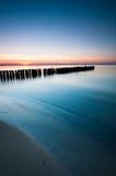Breakwater Sunset Royalty Free Stock Image