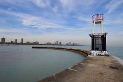 Breakwater Tower Royalty Free Stock Photos