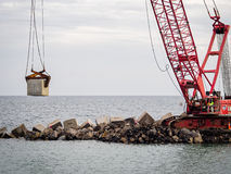 Breakwater Under Construction Stock Photography
