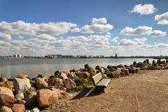 Breakwater in Venspils. Royalty Free Stock Photos