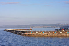 Breakwater, Victoria harbour Royalty Free Stock Image