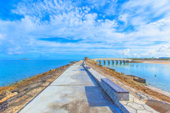 Breakwater With Benches Stock Photography