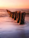 The breakwaters stock photography