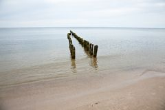 Breakwaters Stock Photo