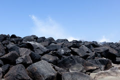 Breakwaters Royalty Free Stock Images